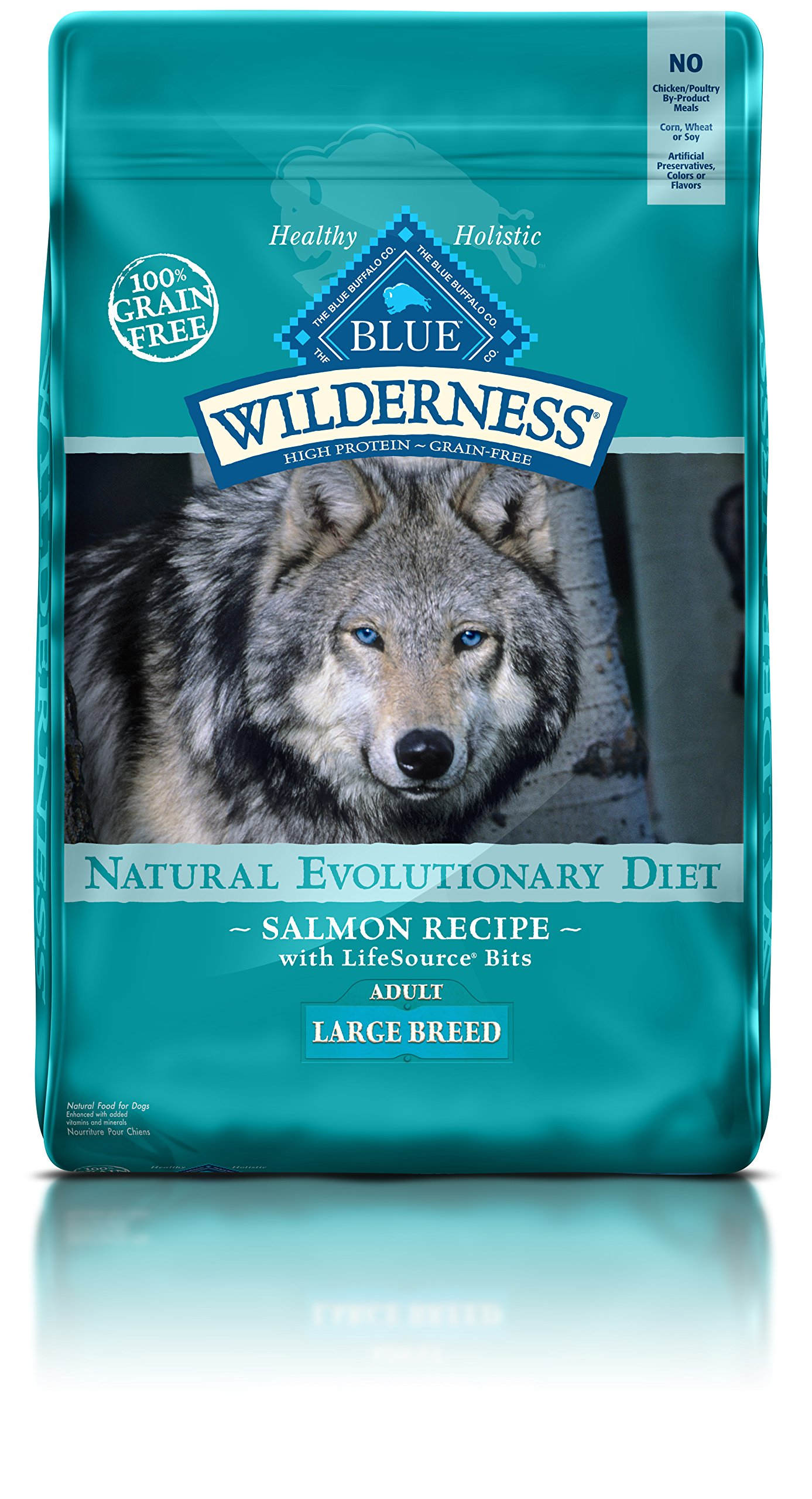 BLUE Wilderness Adult Large Breed Grain Free Salmon Dry Dog Food 24-lb