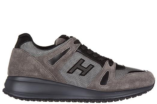 Hogan Men's Shoes Suede Trainers Sneakers Interactive n20 Grey US Size 6.5  HXM2460U871E6F876U