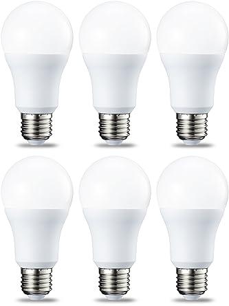 AmazonBasics Bombilla LED Esférica E27, 10.5W (equivalente a 75W), Blanco Cálido