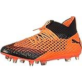 PUMA Mens Future 2.1 Netfit Fg Ag Soccer Sneakers Shoes Casual Cleats - Orange