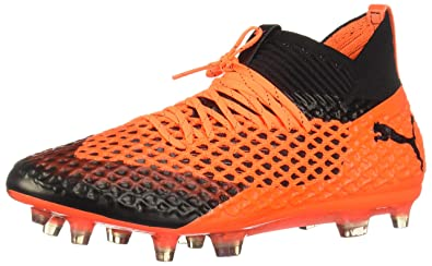 7be1e69a89b PUMA Future 2.1 Netfit Fg Ag Mens Orange Synthetic Soccer Cleats Shoes 7