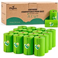 Compostable Poop Bags Certified, 240 Plant-Based Poop Bags for Dogs, Unscented Doggie Waste Bags - Vegetable-Based Extra…