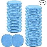 Carcarez Wax Hand Polish Microfiber Applicator Pad for Automotive Car, Blue (24 Pack)