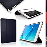 "iGadgitz Premium Blue PU Leather Smart Cover Case for Samsung Galaxy Tab A 9.7"" SM-T550 with Multi-Angle Viewing stand + Auto Sleep/Wake + Screen Protector"