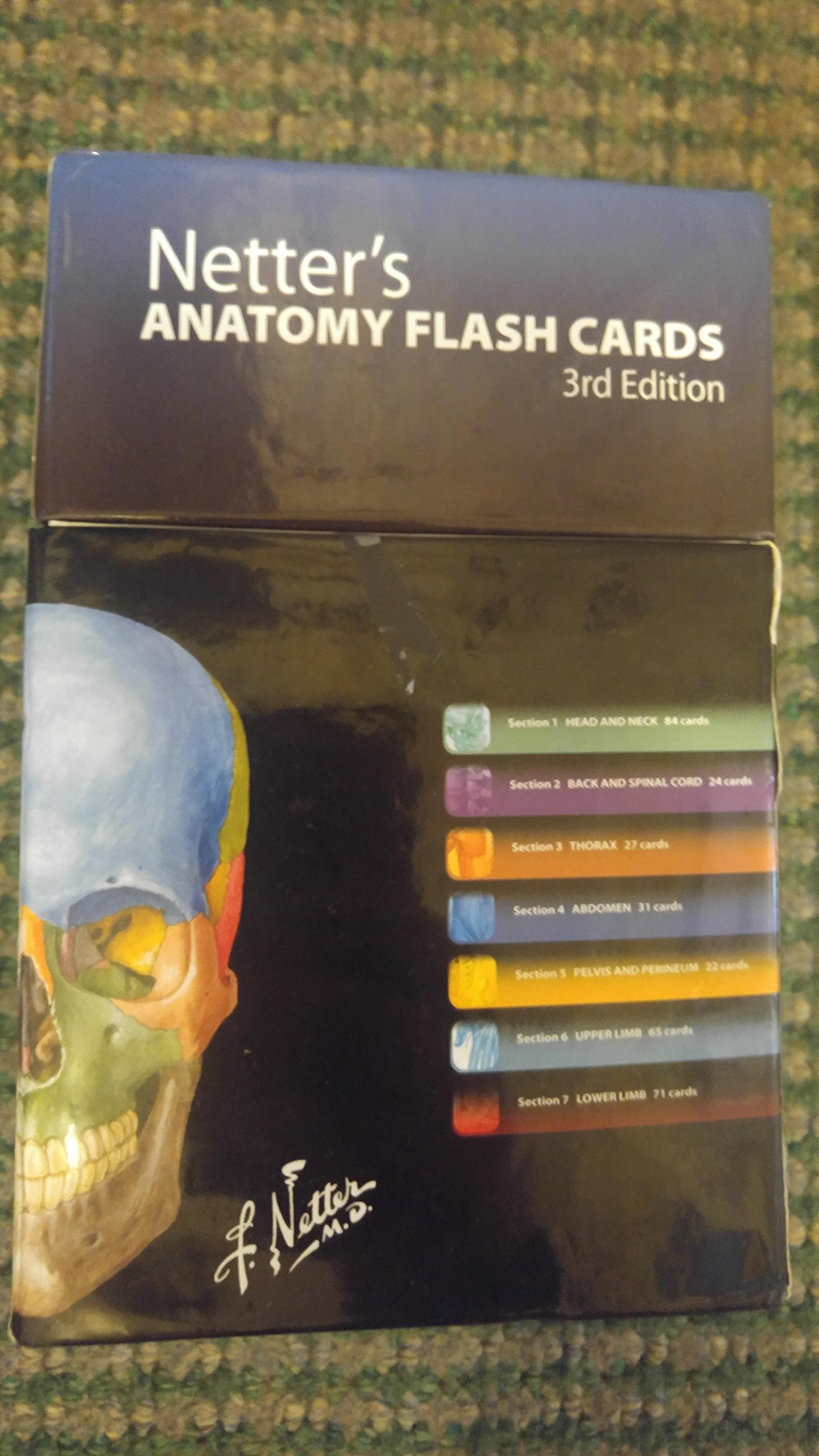Netters Anatomy Flash Cards 3th Third Edition Amazon Books