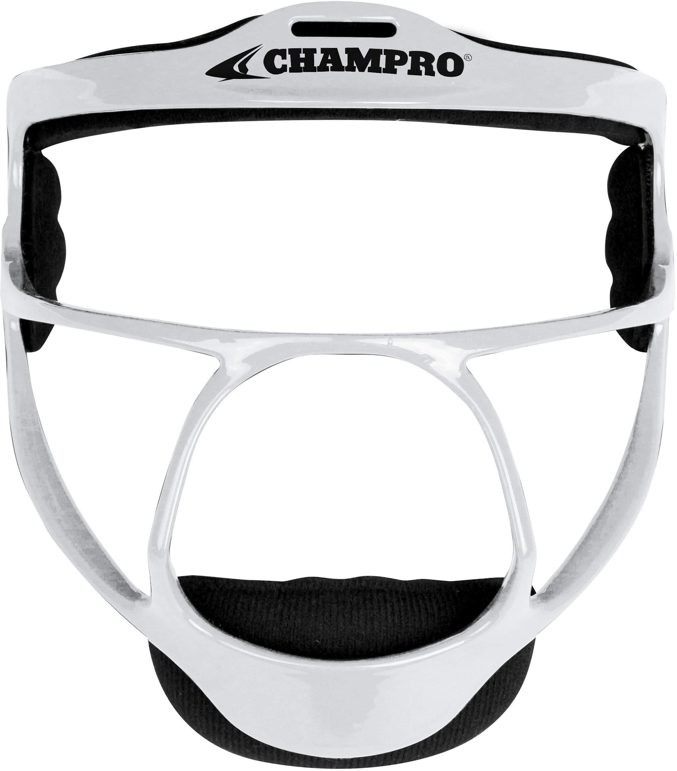 CHAMPRO Youth Rampage Softball Fielders Mask White by CHAMPRO