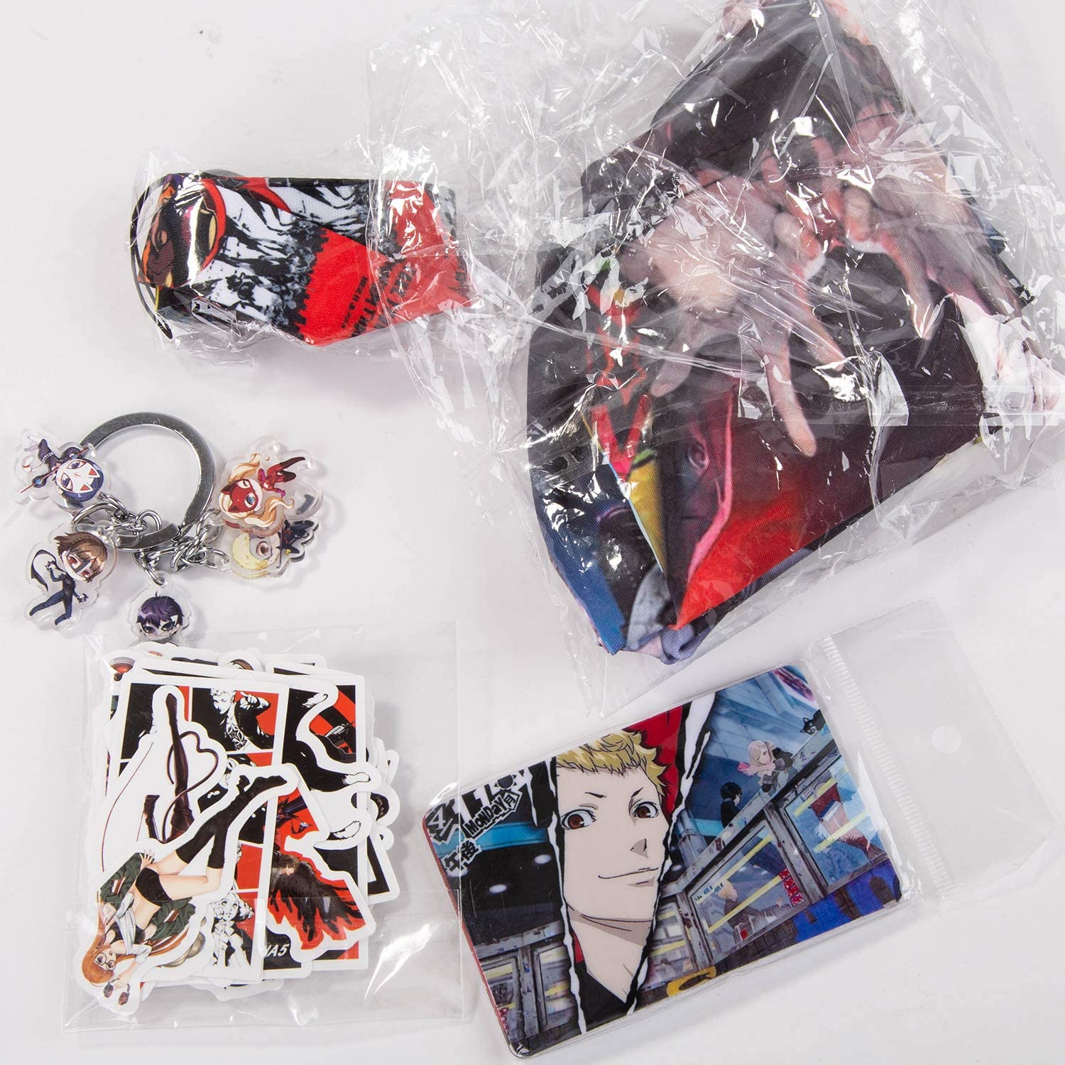 Persona 5,Anime Set,Waterproof Stickers,Keychain,Card Stickers,Mask