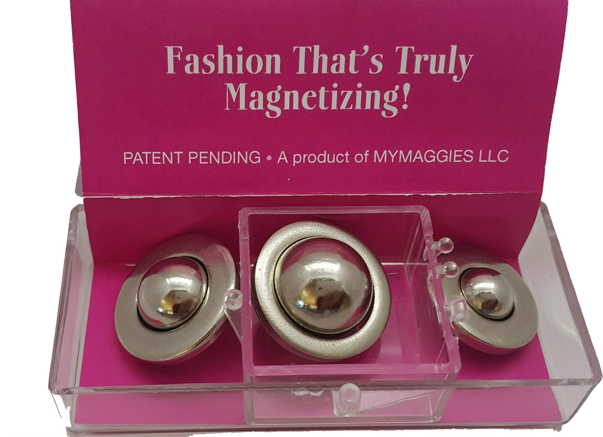 Maggies Snaps Triple Pack Magnetic No Sew Snap Fasteners - 3 Different Sizes - Easily and Quickly Secure 2 or More Layers of Fabric - Alternative to Safety Pins by MAGGIES