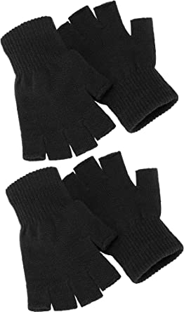 Fingerless with cover Glove For  Daily use U get 2 Pair Black// Gray