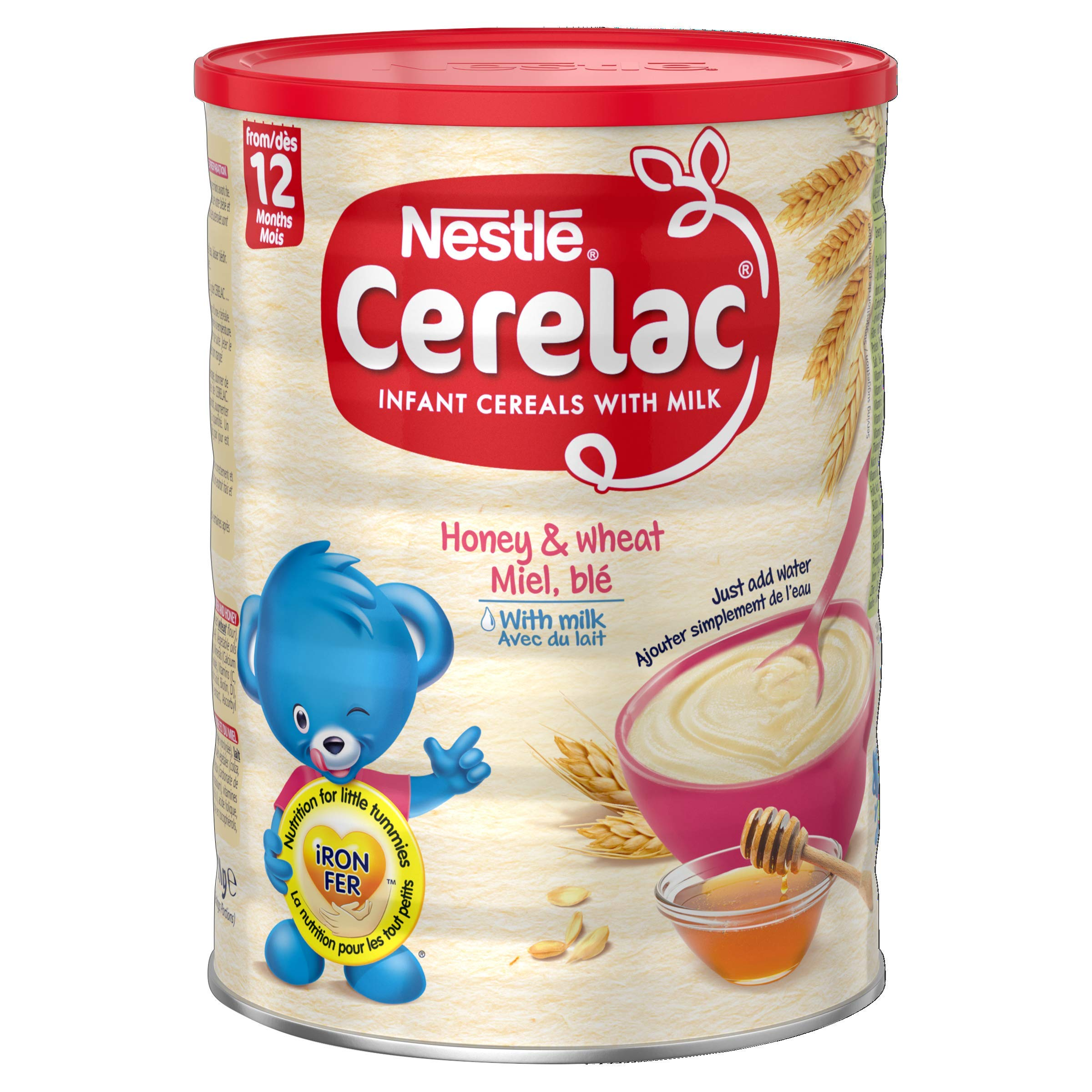 SMA Nutrition, Nestle Cerelac Wheat and Honey with Milk Infant Cereal 1 kg, 12 months+, Pack of 2