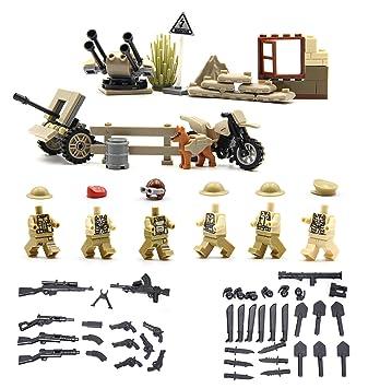 Serie de la Segunda Guerra Mundial de la fuerza británico - Mini figuras de Lego personalizadas