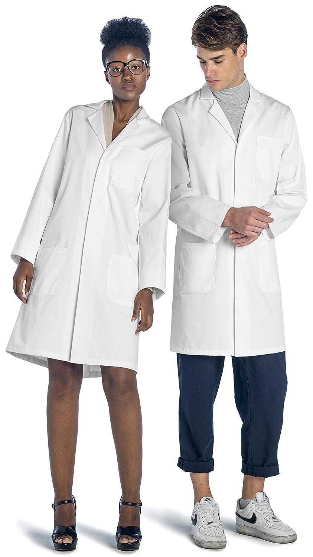 Dr. James 100% Algodón Bata de Laboratorio Unisex: Amazon.es: Ropa y ...