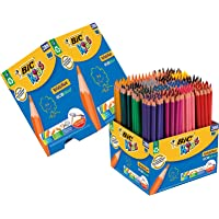 BIC Kids Evolution ECOlutions Colouring Pencils - Assorted Colours, Classpack of 288 Coloured Pencils Set School…