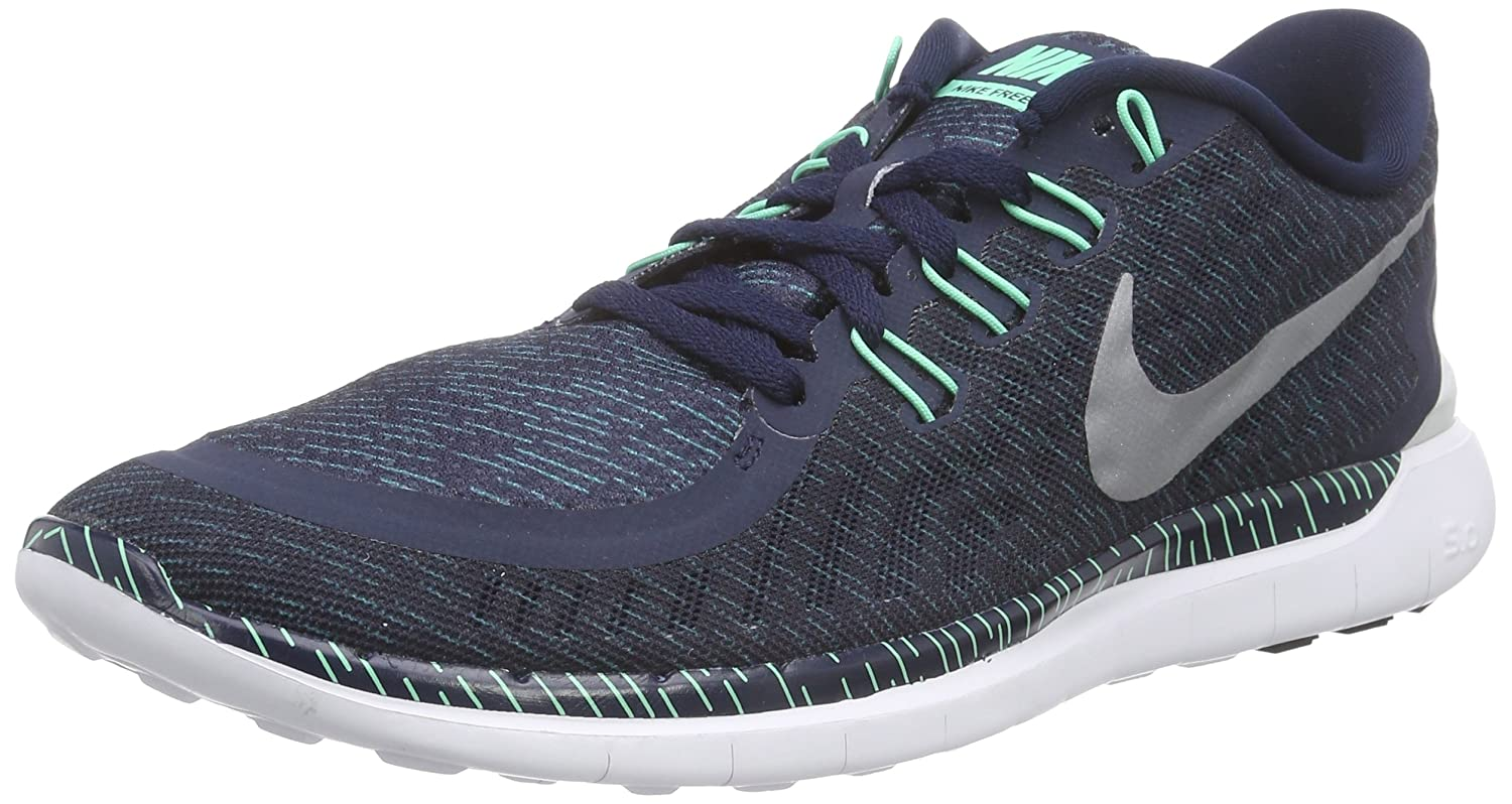 new concept f5ca1 f6b7a Nike Mens Free 5. 0 Print ObsdnRFLCT SlvrGrn GLWBlk Running Shoe 8. 5  Men US Buy Online at Low Prices in India - Amazon.in