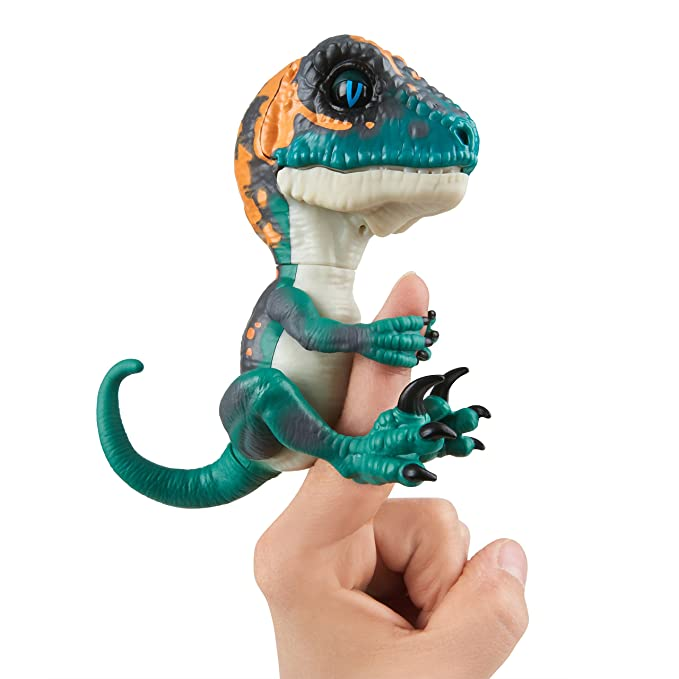 Wowwee- Fury Fingerlings Velociraptor, Color Turquesa (3783)