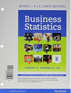 Amazon business statistics 9780132145398 robert a donnelly business statistics student value edition 2nd edition fandeluxe