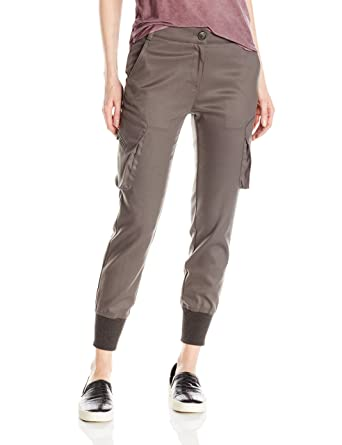 a1372b9b6fd25a Amazon.com: James Jeans Women's Slouchy Cargo Jogger Pant with Banded  Ankles In Olive Flannel: Clothing