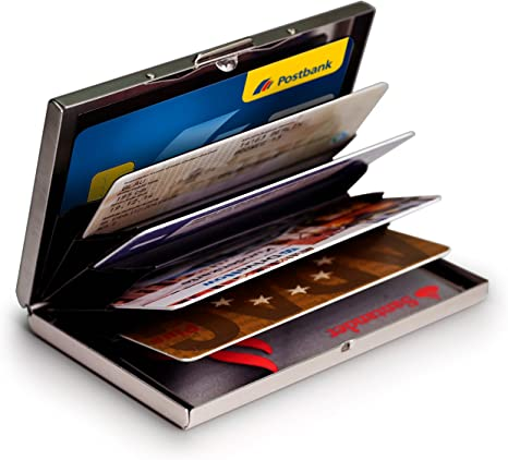 2018 Rostfreier Stahl Kreditkartenetui Visitenkartenetui EC Kartenetui RFID Etui