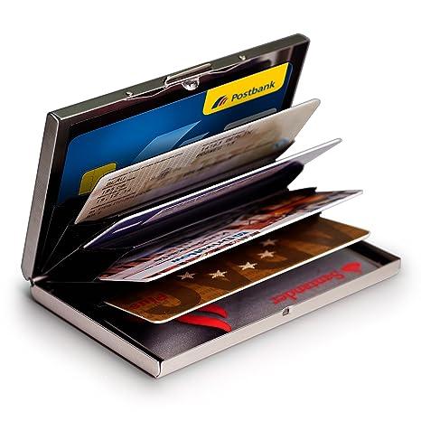 MyGadget Porte Carte Aluminium Protection Bloqueur RFID NFC - Porte carte aluminium