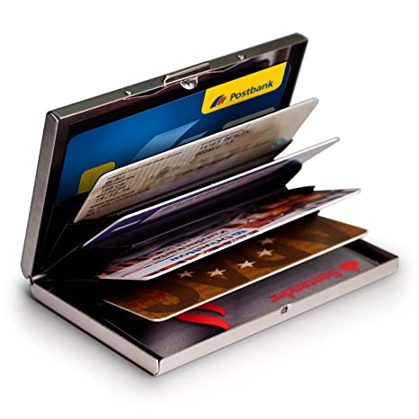 MyGadget Porte Carte Aluminium Protection Bloqueur RFID NFC - Porte cartes sécurisé protection rfid nfc