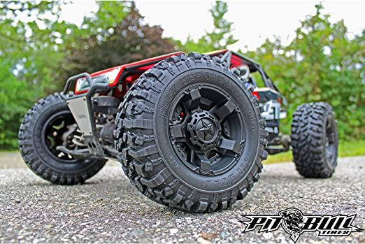 Amazon Com Pit Bull Pb9009zdk Rock Beast Xl 3 8 Scale Tires With Foam Inserts Zuper Duper Compound Toys Games