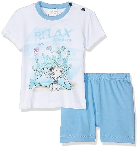 LIABEL HLB045T, Pelele para Dormir Unisex bebé, Azul (Azzurro C05), 86