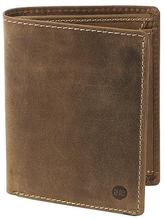 47eedf9d1ad01 HC Herren hochwertige Geldbörse Hochformat Antikes Leder RFID Schutz ...