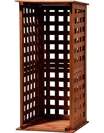 dobar 29097 FSC Chimenea Madera Estante de Madera para Interior y Exterior en el jardín,