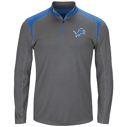 online store 6fa2a bdf8d Amazon.com : NFL Detroit Lions Men 1/4 ZIP POLY JERSEY ...