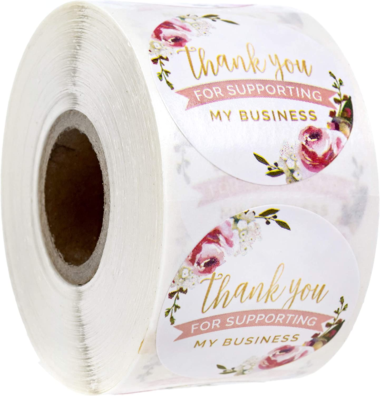 """Thank You for Supporting My Business Label / 500 1.5"""" Small Business Labels"""