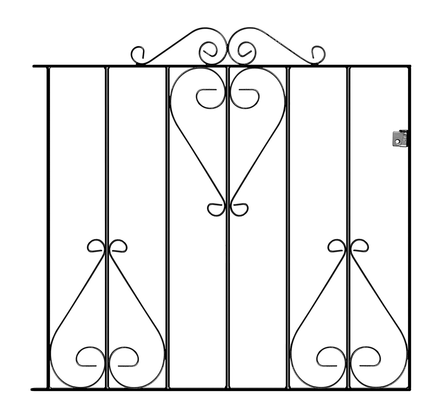 CLASSIC2 Metal Scroll Garden Gates 838mm GAP X 914mm H