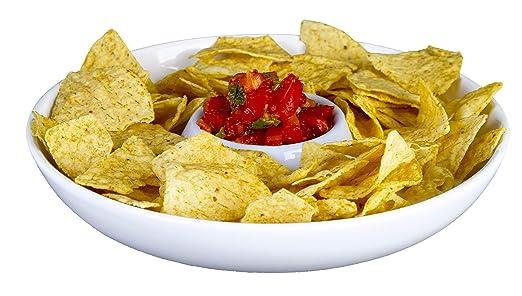 Ranch & Home - Plato para patatas fritas y salsas: Amazon.es: Hogar