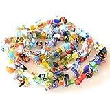 usausaのお店 【アウトレット商品】ミルフィオリ風ガラスビーズ マルチカラー スモールチップ (B508)