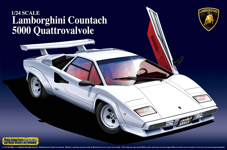 Amazon Com Aoshima Lamborghini Countach 5000 Quattrovalvole Model