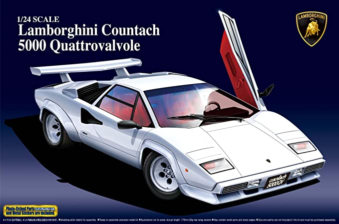 Amazon Com Aoshima Lamborghini Countach 5000 Quattrovalvole Model