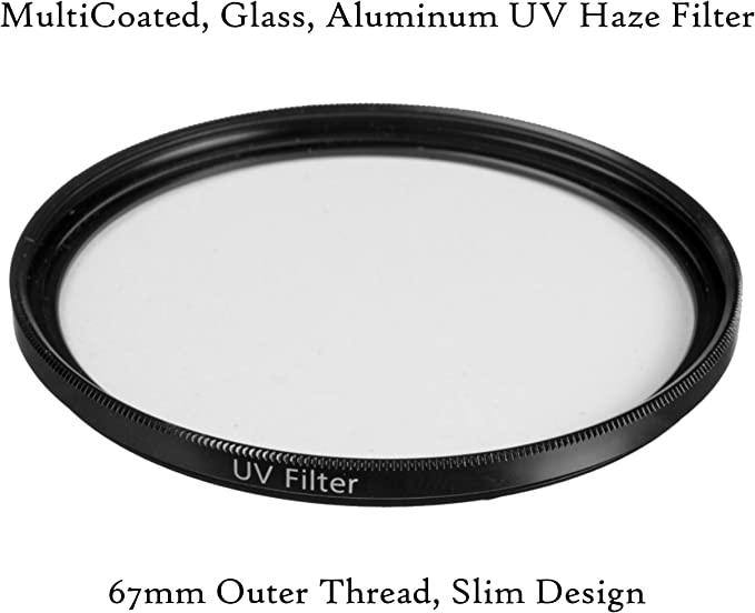 1A Multicoated UV Multithreaded Glass Filter for Canon EOS Rebel XTi 67mm Haze