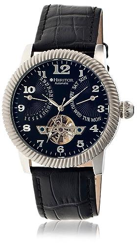 heritor automatic HR2002 - Reloj para Hombres, Correa de Acero Inoxidable Color Negro: Amazon.es: Relojes