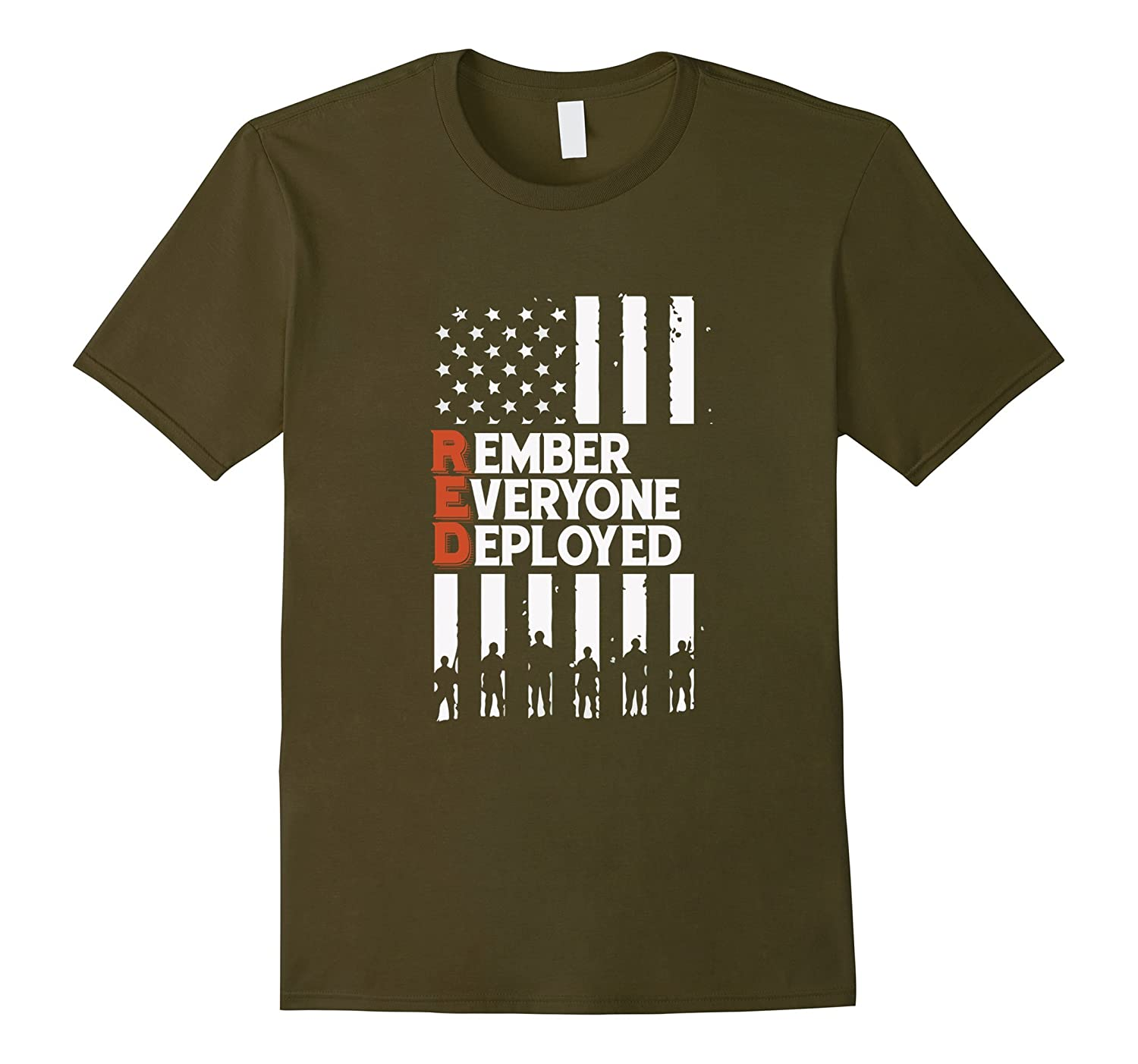 RED Friday - RED Remember Everyone Deployed T Shirt-RT
