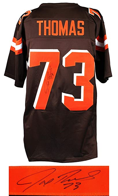 newest collection 0e1be 2e01b Autographed Joe Thomas Jersey - Brown Custom - Autographed ...