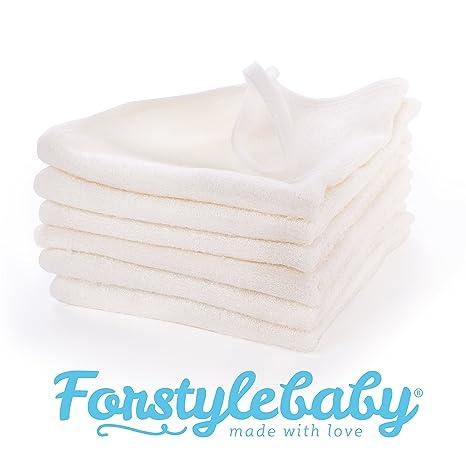 forstyle bebé toallas de bambú 100% Natural, con gancho, suave, extra grande 12