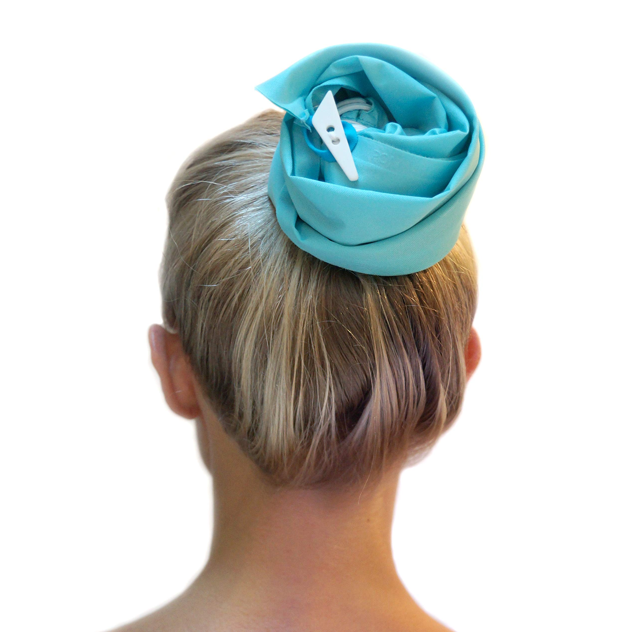 PONYDRY WATERPROOF HAIRSLEEVE IN TURQUOISE - Wash just the roots of your hair while keeping your lengths dry. Perfect for the Shower, Gym, Pool and Beach by PONYDRY
