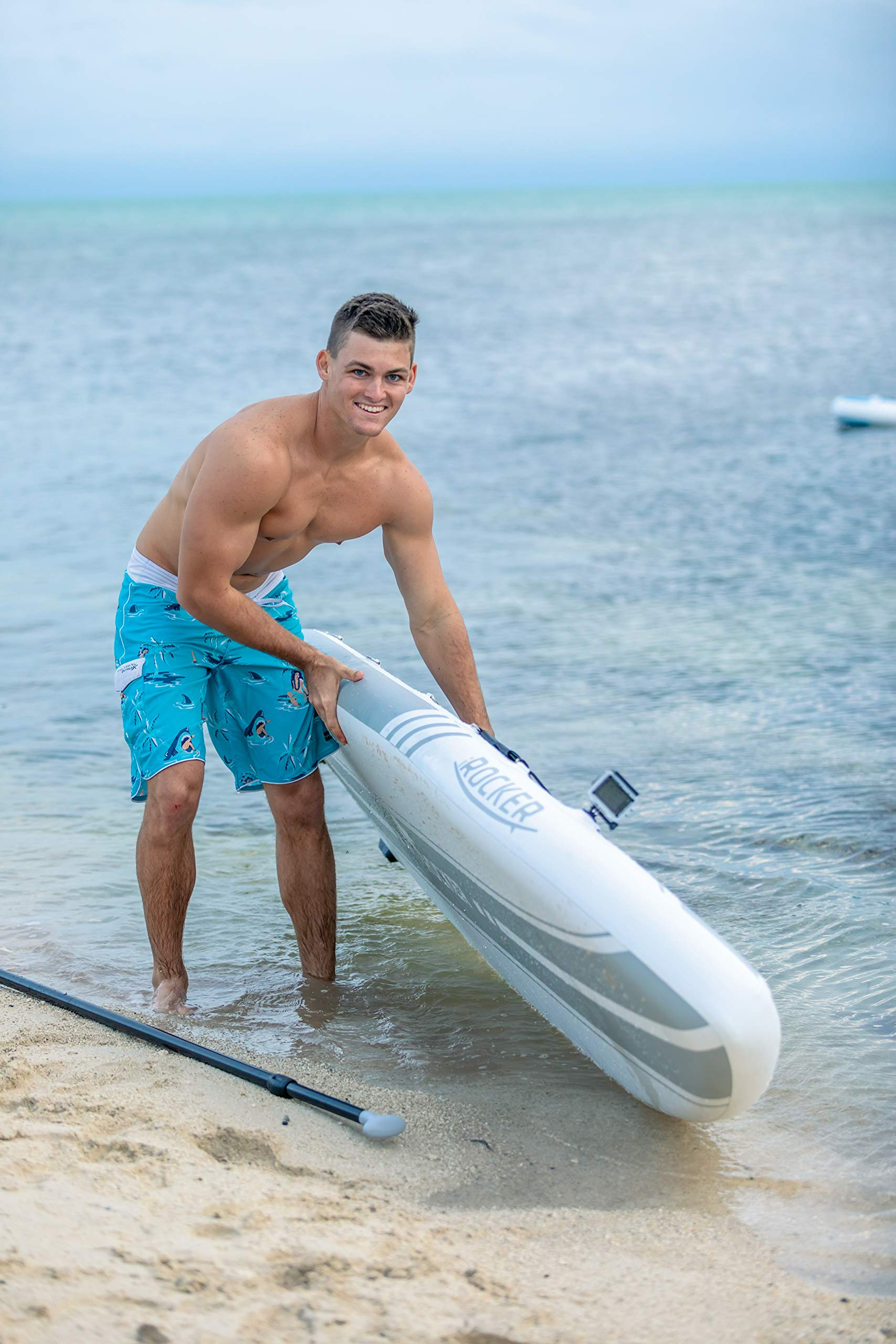 iROCKER All-Around Inflatable Stand Up Paddle Board 11' Long 32'' Wide 6'' Thick SUP Package (White 2019) by iROCKER (Image #4)