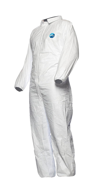 DuPont Tyvek 500 Industry - Ropa de Protección Química, Categoría III, tipo 5 y 6, Blanco, Talla S