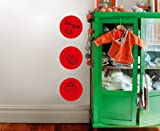 Red Hot Dry Erase Dot Decals