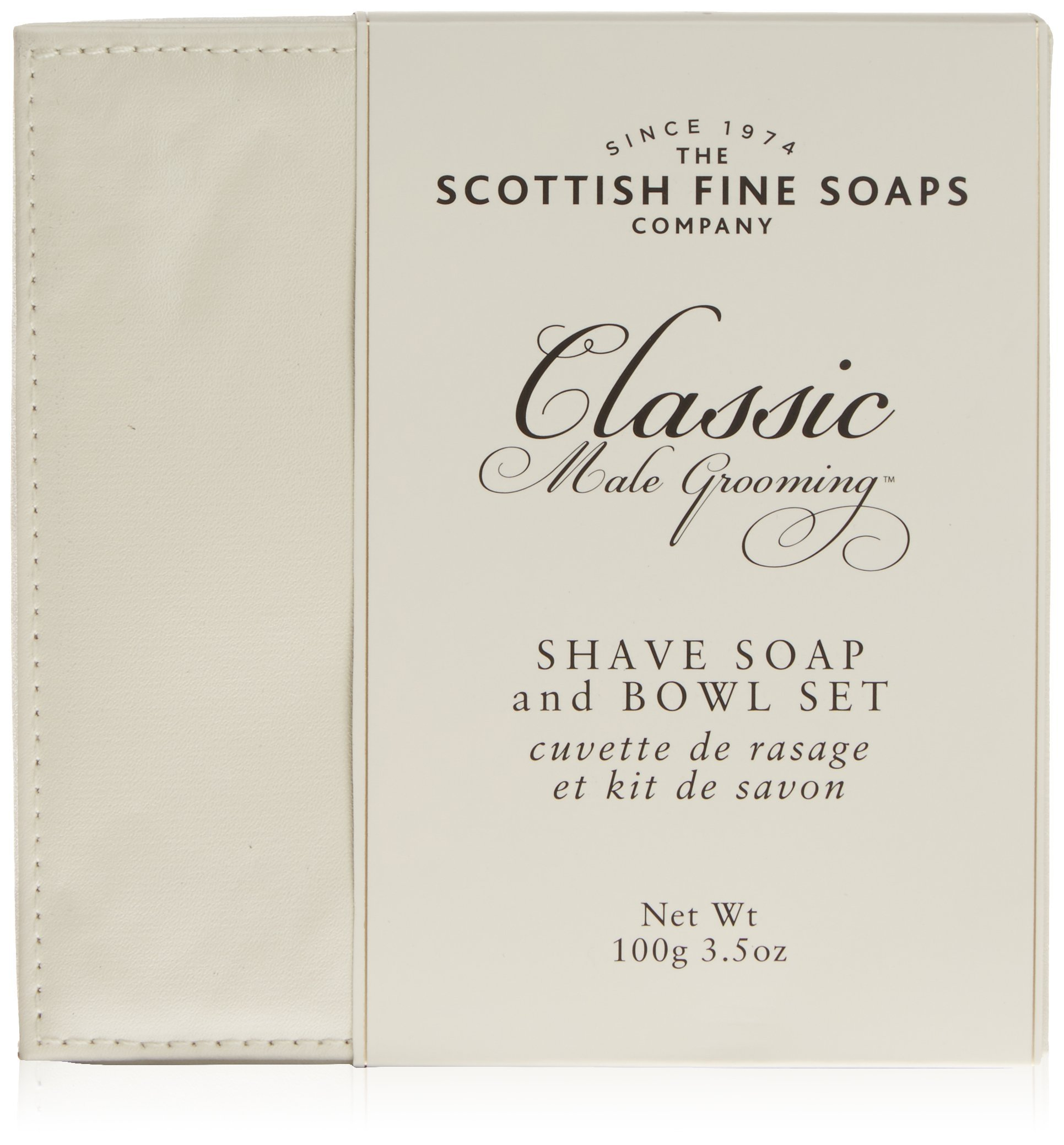 Scottish Fine Soaps Classic Male Grooming Shave Soap & Bowl Set From Scotland