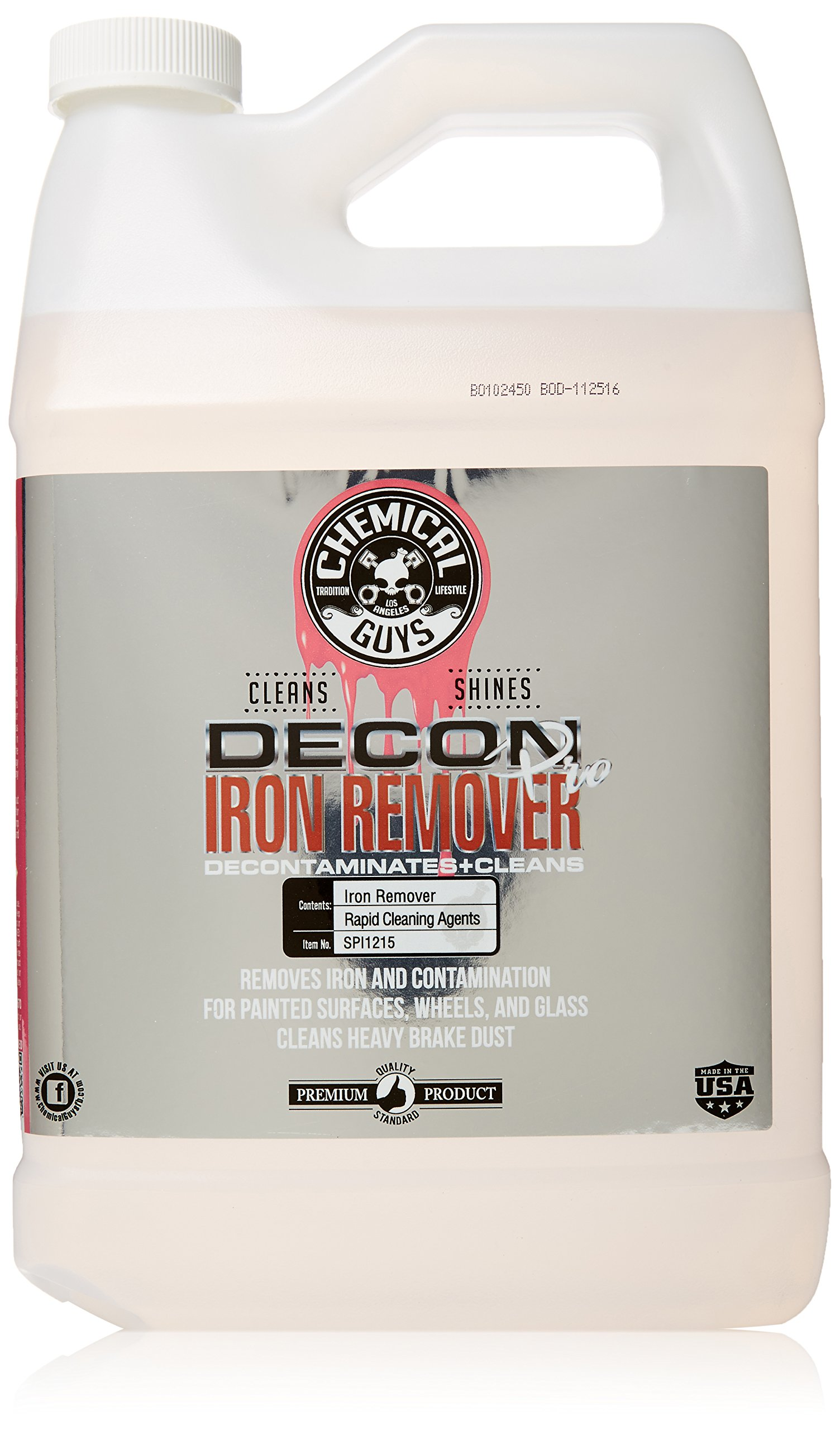 Chemical Guys SPI215 Decon Pro Decontaminant and Iron Remover (1 Gal), 128. Fluid_Ounces