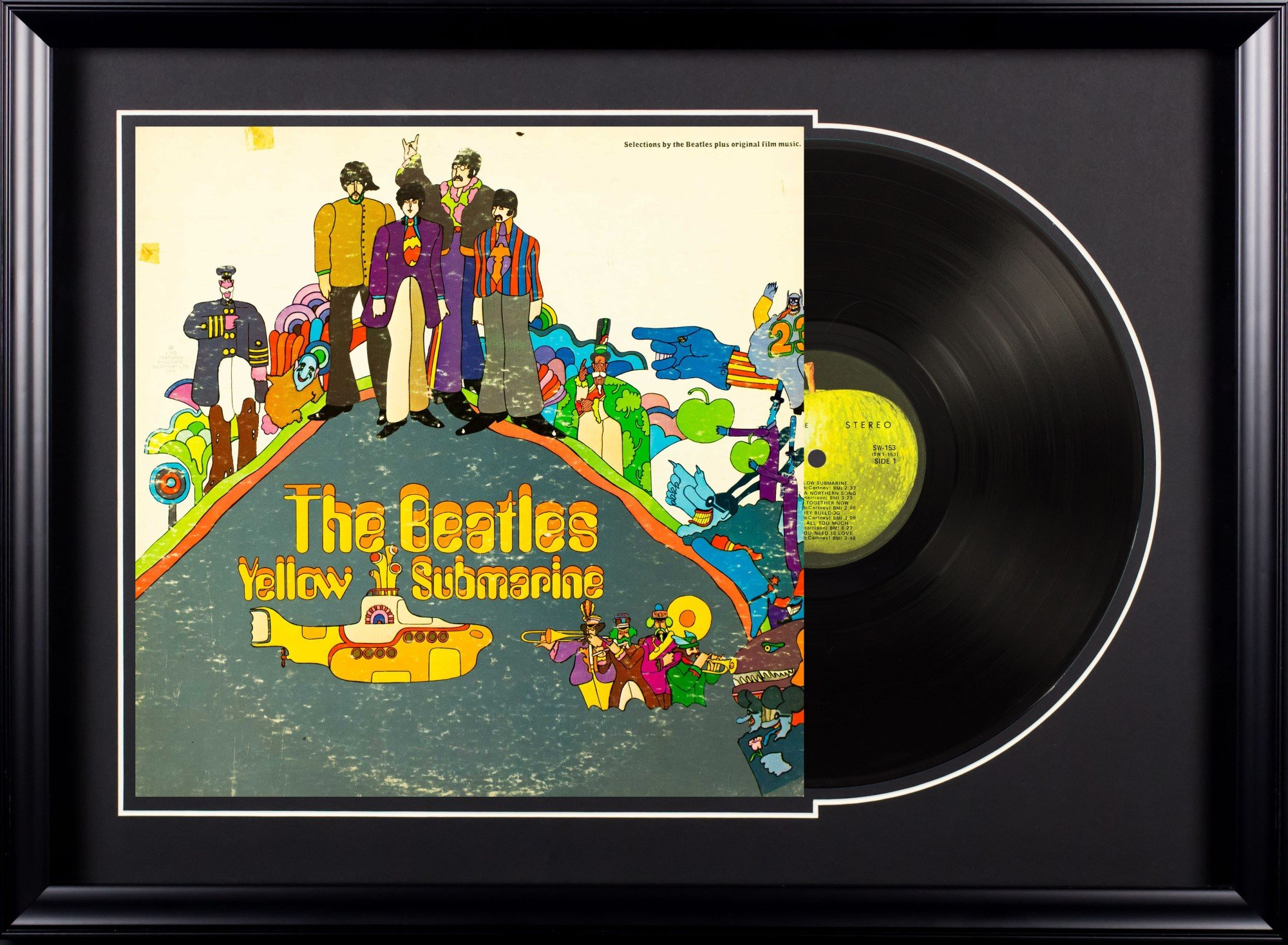 Vintage Favs the Beatles Yellow Submarine Deluxe Framed Vintage Vinyl Album