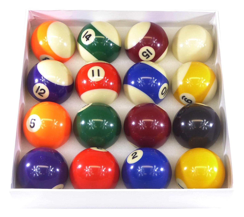 Billard Pro Unisex 5,1cm Pool Ball Set (Punkte und Streifen, Sortiert Cartasport PB2