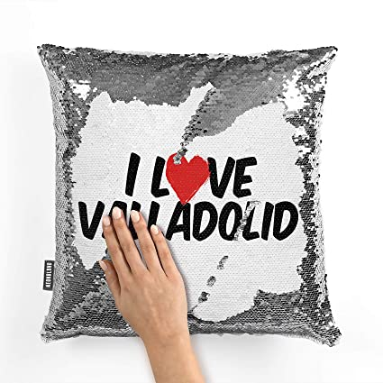 Amazon.com: NEONBLOND Mermaid Pillow Cover I Love Valladolid ...