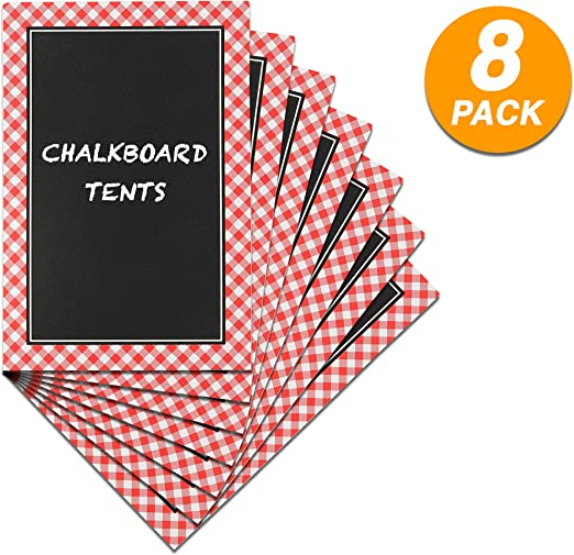 Amazon.com: Ram-Pro Picnic Party Chalkboard Tent Cards Mini ...